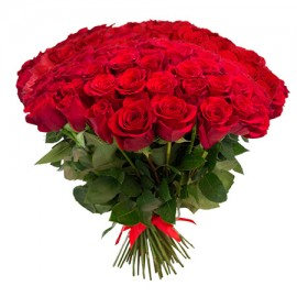 101 красная роза