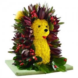 Игрушка из цветов «Лесной зверёк»