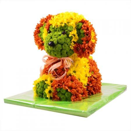 Игрушка из цветов «Щенок»