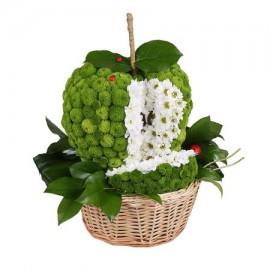 Игрушка из цветов «Зелёное яблоко»