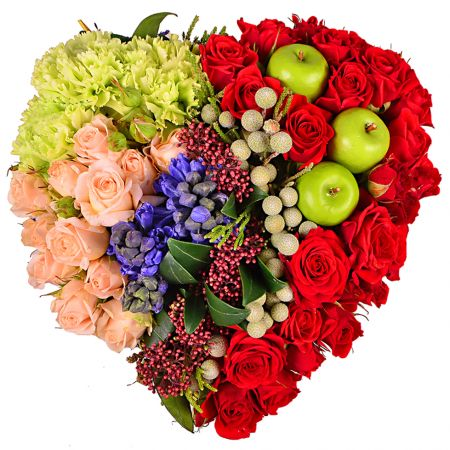 Сердце «Фруктовые дары»