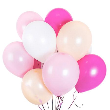15 шариков «Для девочки»