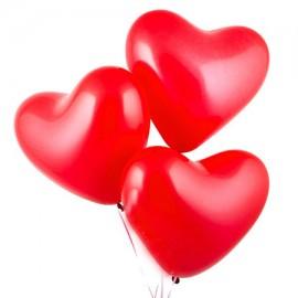 Шарики с гелием красные «Сердце»